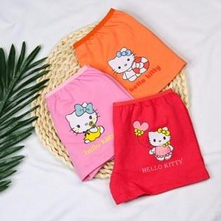 Set 3 Quan Chip Dui Thun Cotton Cho Be Gai (1 - 8 tuoi)