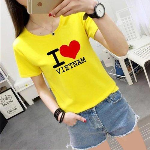 Ao thun in chu I Love Viet Nam cho Me