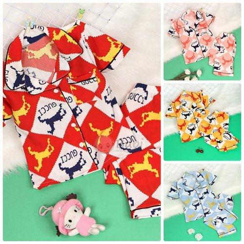 Bo Pijama Cho Be Gai Tay Ngan Quan Dai Hoa Tiet Dang Yeu (2 - 11 tuoi)