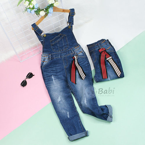 Quan Yem Jeans Dai  Cho Be Gai Phoi Tui Cuc Ngau Size Dai (6 - 11 tuoi)