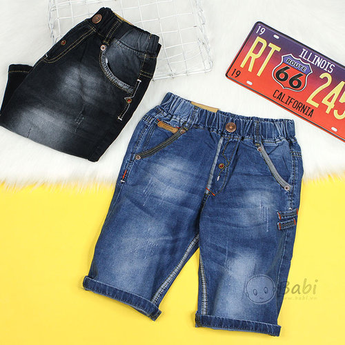 Quan Jeans Lung Be Trai Mau Tron Phong Cach Don Gian Size Dai (8 - 13 Tuoi)