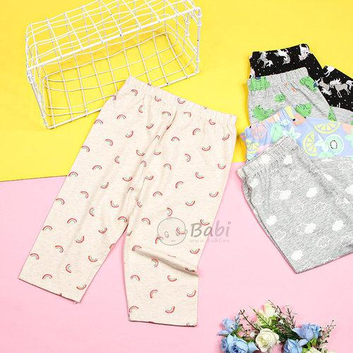 Quan Legging Lung Be Gai Nhieu Hoa Tiet Xinh Xan Size Nhi  (6 Thang - 5 Tuoi)