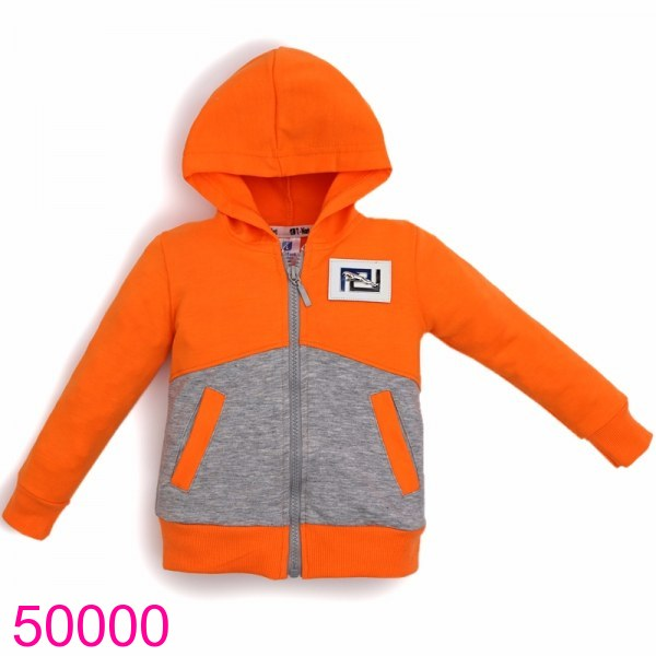 Áo khóa phối màu cam