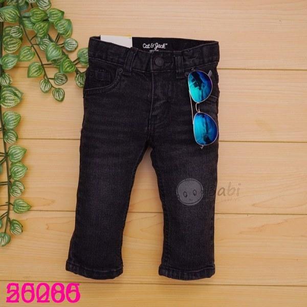 Quần jeans dài màu đen