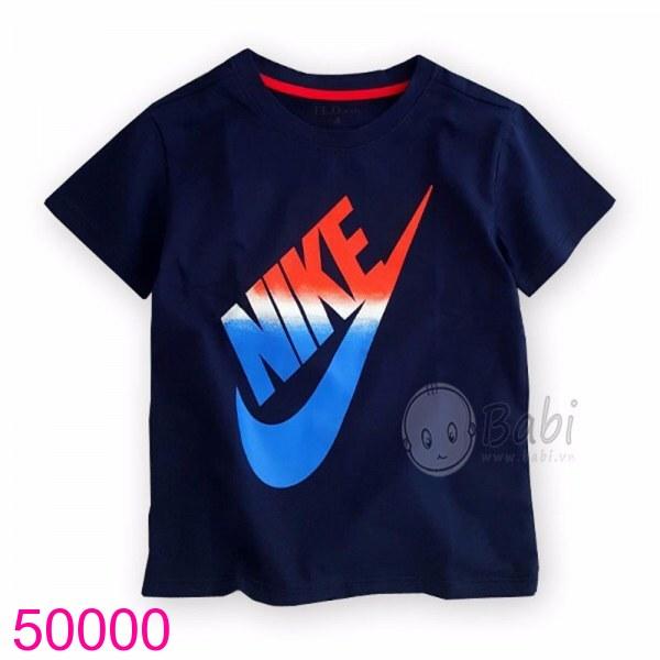 Áo in logo màu xanh đen