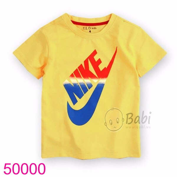 Áo in logo màu vàng