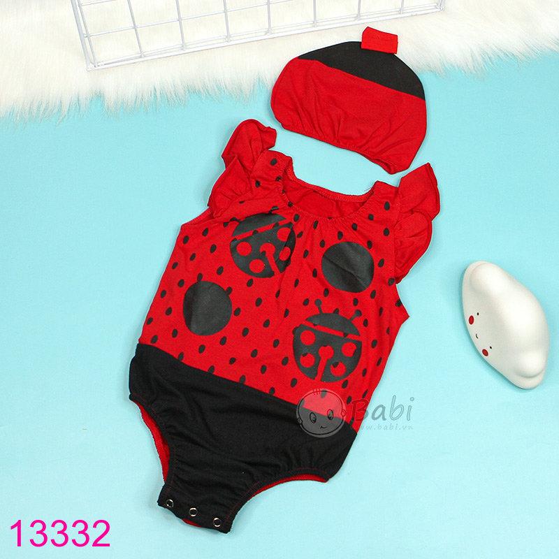 Bodysuit baby so sinh cho be gai kem non con bo