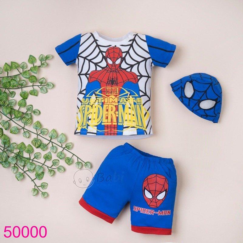 Bộ người nhện kèm nón xanh