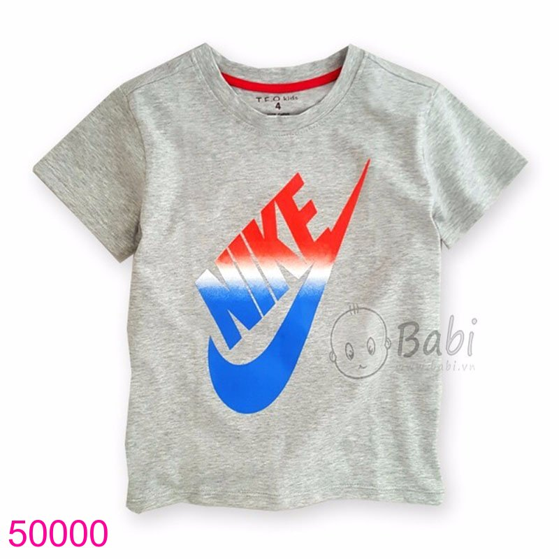 Áo in logo màu xám